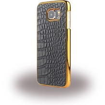 UreParts Kroko Leder Hardcover/Hardcase/Handy Hülle - Samsung G925F Galaxy S6 Edge - Dunkel Braun