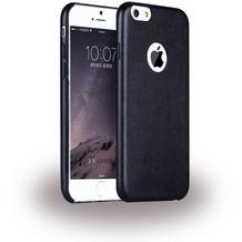 UreParts Leder Hardcover/Hardcase/Handy Hülle - Apple iPhone 6 Plus, 6s Plus - Schwarz