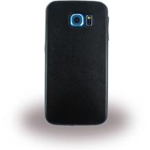 UreParts Leder Hardcover/Hardcase/Handy Hülle - Samsung G920F Galaxy S6 - Schwarz