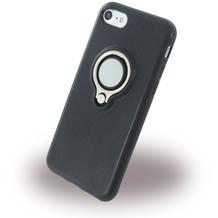 UreParts Ring Halter - Silikon Case / Handyhülle - Apple iPhone 7 / 8 - Schwarz