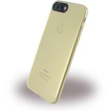 UreParts Silikon Cover / Handyhülle - Apple iPhone 7 Plus / iPhone 8 Plus - Transparent Gold