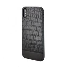 Uunique Mode 50:50 Luxe Croc II Hardcover, Apple iPhone XR 6.1, Schwarz