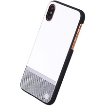 Uunique Perforation, Hardcover, Apple iPhone X, Weiss/Silber