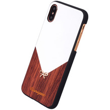 Uunique Rose Wood, Schutzhülle Cover Case, Apple iPhone X, Weiss/Braun