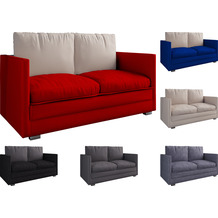 "VCM 2er Schlafsofa Sofabett Couch Sofa mit Schlaffunktion ""Ondal"" Rot"