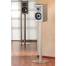 "VCM 2x Lautsprecherstand ""Boxero Maxi"" | Lautsprecherständer Boxenständer Boxenstand Ständer Surroundständer Alu / Glas Klarglas"