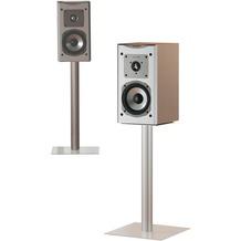 "VCM 2x Lautsprecherstand ""Boxero Mini"" Stand Regal Lautsprecher Boxenständer Boxenstand Ständer Alu / Glas Klarglas"