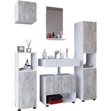 Komplett Badezimmer In Der Farbe Grau Hertie De