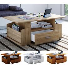 """VCM Couchtisch Sofatisch Wohnzimmertisch Beistelltisch Schublade Wohnzimmer Tisch """"Junata"""" Sonoma-Eiche"""