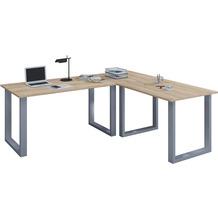 """VCM Eckschreibtisch Schreibtisch Büromöbel Computertisch Winkeltisch Tisch Büro """"Lona"""" 130 x 160 x 50 cm  Sonoma-Eiche"""