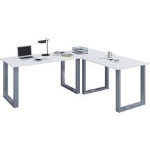"""VCM Eckschreibtisch Schreibtisch Büromöbel Computertisch Winkeltisch Tisch Büro """"Lona"""" 160 x 190 x 80 cm  Weiß"""