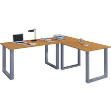 """VCM Eckschreibtisch Schreibtisch Büromöbel Computertisch Winkeltisch Tisch Büro """"Lona"""" 160 x 190 x 80 cm  Buche"""