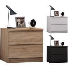 VCM Extra breiter Nachttisch Beistellkonsole Schubladen Nacht Kommode Breido Mini Sonoma-Eiche