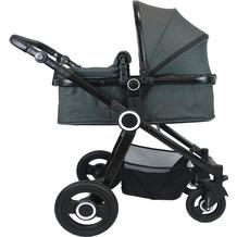 VCM Premium Set 2in1 Kombi - Kinderwagen, gefederter Babywagen Alu Pilosa Anthrazit