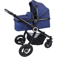VCM Premium Set 2in1 Kombi - Kinderwagen, gefederter Babywagen Alu Pilosa Dunkelblau