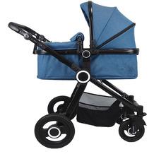 VCM Premium Set 2in1 Kombi - Kinderwagen, gefederter Babywagen Alu Pilosa Hellblau