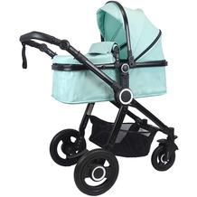 VCM Premium Set 2in1 Kombi - Kinderwagen, gefederter Babywagen Alu Pilosa Mint
