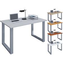 """VCM Schreibtisch Computertisch Arbeitstisch Büro Möbel PC Tisch """"Lona"""" B. 110 x T. 50 cm  Grau"""