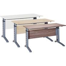 VCM Schreibtisch Computertisch Laptop Tisch Bürotisch Höhenverstellbar Braso 210 Eiche-Trüffel