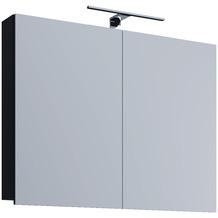 """VCM Spiegelschrank """"VCB 1 - 60 cm"""" Badspiegel Spiegel Badezimmerspiegel Hängespiegel H. 42 x B. 60 x T. 12 cm Schwarz"""