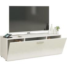 """VCM TV Lowboard Fernsehtisch Rack Phono Möbel Tisch Holz Sideboard Medienrack Fernsehbank """"Winalo"""" B. 115cm  Weiß"""