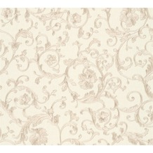 Versace florale Mustertapete Butterfly Barocco Vliestapete beige creme metallic 10,05 m x 0,70 m 343263