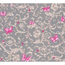 Versace florale Mustertapete Butterfly Barocco Vliestapete grau metallic lila 10,05 m x 0,70 m 343255