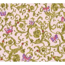 Versace florale Mustertapete Butterfly Barocco Vliestapete grün metallic rosa 343254