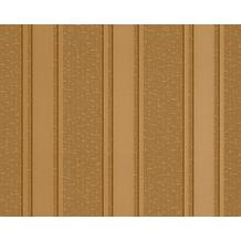 Versace grafische Streifentapete Greek, Tapete, braun, gelb, metallic