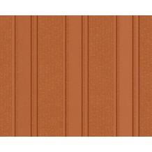 Versace grafische Streifentapete Greek, Tapete, braun, metallic, orange