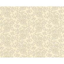 Versace klassische Mustertapete Barocco Flowers, Tapete, beige, creme, metallic 935841