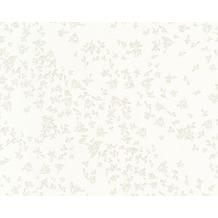 Versace klassische Mustertapete Barocco Flowers, Tapete, creme, metallic 935852