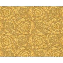 Versace klassische Mustertapete Barocco Flowers, Tapete, metallic