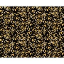 Versace klassische Mustertapete Barocco Flowers, Tapete, metallic, schwarz