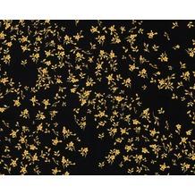 Versace klassische Mustertapete Barocco Flowers, Tapete, metallic, schwarz 935854
