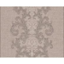 Versace klassische Mustertapete Baroque & Roll, Tapete, braun, grau, metallic 962321