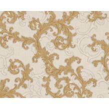 Versace klassische Mustertapete Baroque & Roll, Tapete, grau, metallic, weiß 962314