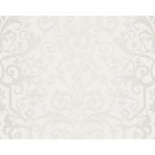 Versace klassische Mustertapete Herald, Tapete, grau, metallic, weiß