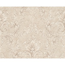 Versace klassische Mustertapete Pompei, Tapete, beige, metallic 962152