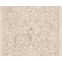 Versace klassische Mustertapete Pompei, Tapete, beige, metallic 962162
