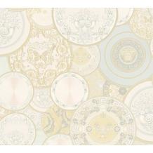 Versace Mustertapete Les Etoiles de la Mer 2 Vliestapete creme metallic weiß 10,05 m x 0,70 m