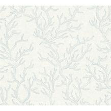 Versace Mustertapete Les Etoiles de la Mer Vliestapete blau metallic 10,05 m x 0,70 m 344972