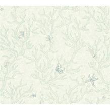 Versace Mustertapete Les Etoiles de la Mer Vliestapete grün metallic 10,05 m x 0,70 m 344962