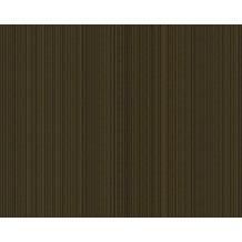 Versace Streifentapete Greek, Tapete, metallic, schwarz