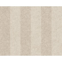 Versace Streifentapete Pompei, Tapete, beige, grau, metallic