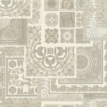 Versace Vliestapete Decoupage grau metallic weiß 10,05 m x 0,70 m