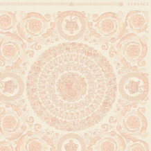 Versace Vliestapete Heritage metallic weiß rosa 10,05 m x 0,70 m