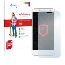 Vikuiti 2x MySafeDisplay Displayschutzfolie CV8 von 3M für Alcatel One Touch Idol 2 Mini 6016D