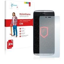 Vikuiti 2x MySafeDisplay Displayschutzfolie CV8 von 3M für Alcatel One Touch Idol Alpha