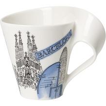 Villeroy & Boch Cities of the World Becher mit Henkel Barcelona blau